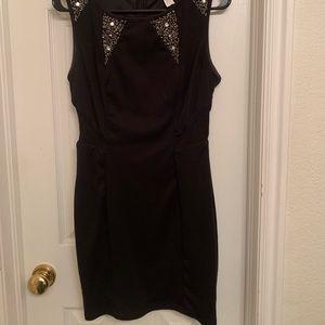 Little black dress with embellishments